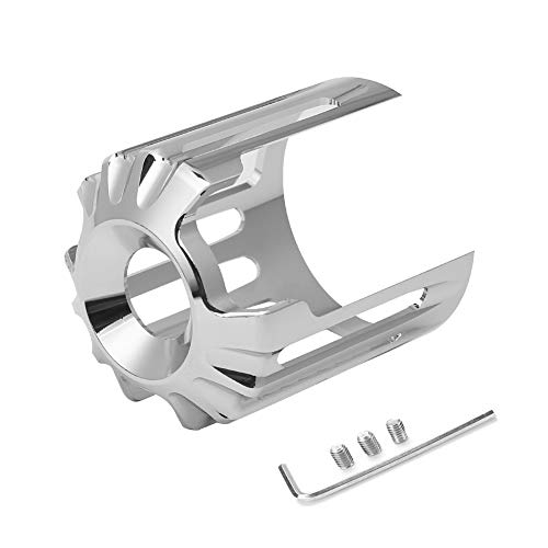 AQIMY Chrome Oil Filter Cover Trim For Harley-Davidson Touring Softail Dyna