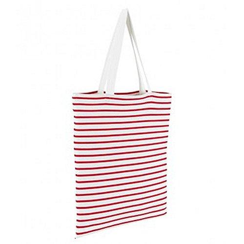 Bag Motivo Luna Rossa Bianco Sol Shopper Righe A PTqwn7vA7