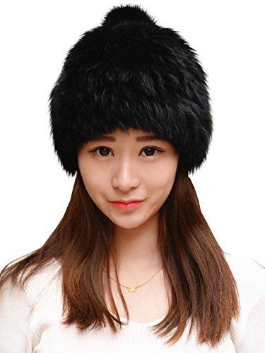 adbd01f3c62 Jual Urban CoCo Women s Winter Warm Beanie Rabbit Fur Hat Pom Pom ...
