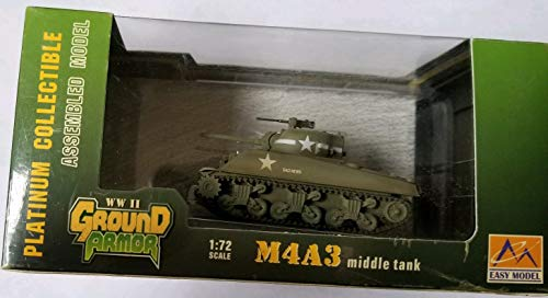 (WWII Ground Armor Easy Model Platinum Collectible 1:72 Scale M4A3 Middle Tank)