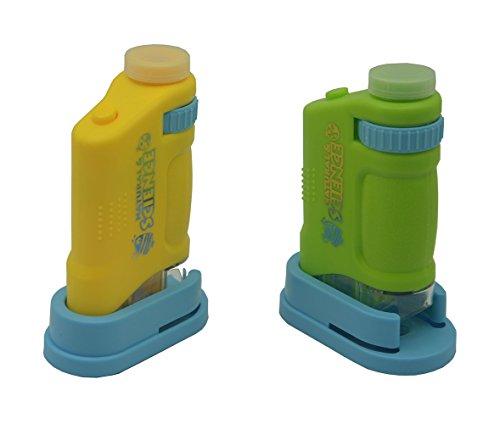 AWOEZ 80X Handheld LED Lighted Pocket Microscope Set for ...