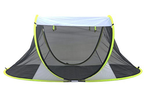 SolarWave Outdoor Easy-up Pop-up Beach Sun Tent. Pure ENJOYMENT: Relax, Recharge, Regroup! Reduces UVA and UVB Rays by 99.8%, Your QUALITY Shade | Shelter is GREAT for the Park and ()