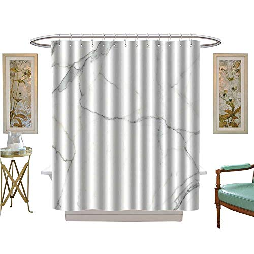 luvoluxhome Shower Curtains Waterproof Carrara Marble Marble Texture White Stone Background Bianco venatino Marble Satin Fabric Sets Bathroom W54 x L78
