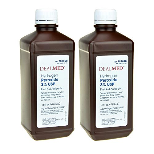 Dealmed Hydrogen Peroxide 3% USP, First Aid Antiseptic, 16 fl. oz, (2 pk.) (Hydrogen Peroxide Antiseptic)