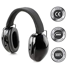Hearing Protection Ear Muffs Fully Adjustable Professional Noise Canceling Ear Hearing Protection for Shooting, Firing Range, Yard Work, Woodworking, Fits Adults & Kids- Includes Protective Travel Bag