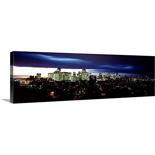 GREATBIGCANVAS Gallery-Wrapped Canvas Entitled Canada, Alberta, Calgary, Crescent Drive, Storm Clouds Over a City by 60