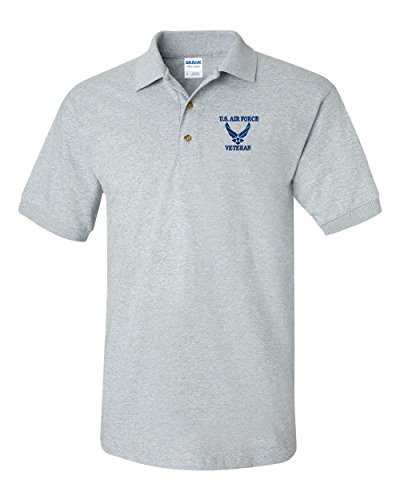 (US AIR FORCE VETERAN Custom Personalized Embroidery Embroidered Golf Polo Shirt)