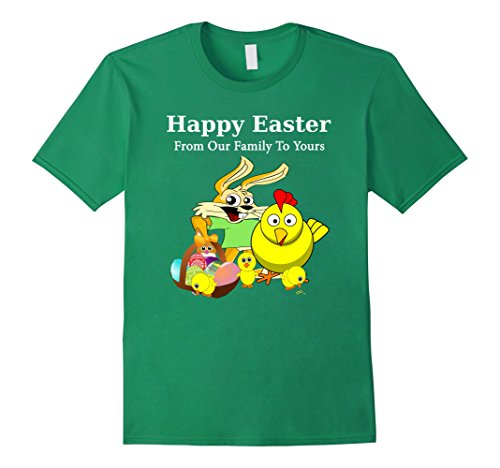 [Men's Happy Easter From Our Family To Yours Group family Photo Tee Large Kelly Green] (Social Media Sites Costumes)