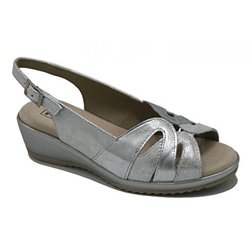 Pitillos modelo plata Sandalia Plata 1013 confort qnpqfwrR