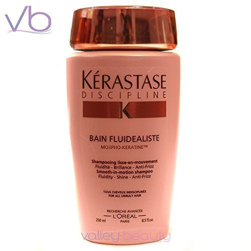 Kerastase Discipline Bain Fluidealiste Smooth-In-Motion Shampoo - For Unruly, Over-Processed Hair (New Packaging) 250ml/8.5oz by KERASTASE