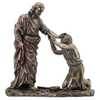 Jesus Healing Blind Man Statue Sculpture