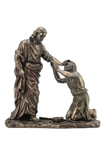 - Jesus Healing Blind Man Statue Sculpture