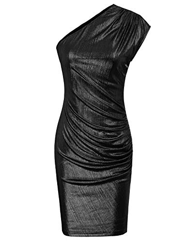 GRACE KARIN Womens Sequin Glitter Bodycon Stretchy Mini Cocktail Party Dress Black -