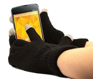 Guantes capacitivas especial frío para pantalla táctil de teléfono móvil/smartphone LG Nexus 4Google Phone Android 4.2y Nexus 5(salida 2013) Android 4.4KitKat–Talla M (medio) por DURAGADGET