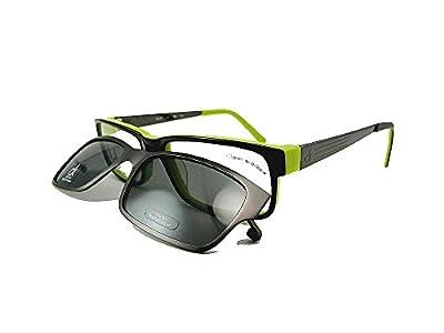 Calvin Klein CK CK5659Mag-Set Eyeglasses 011 Black/ Citrus