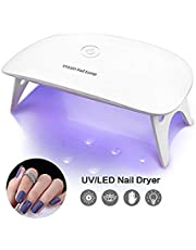 BRIGHTINWD Pocket Size Mini UV Nail Drying Lamp for Curing Gel Nail Polish Art Tips Tool UV Nail Lamp with 2 Timing Setting Ideal for Home and Travel (Mini Type)