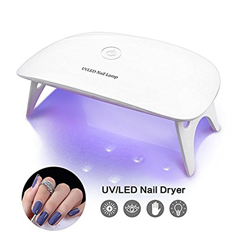 BRIGHTINWD Pocket Size Mini UV Nail Lamp Starter for Curing