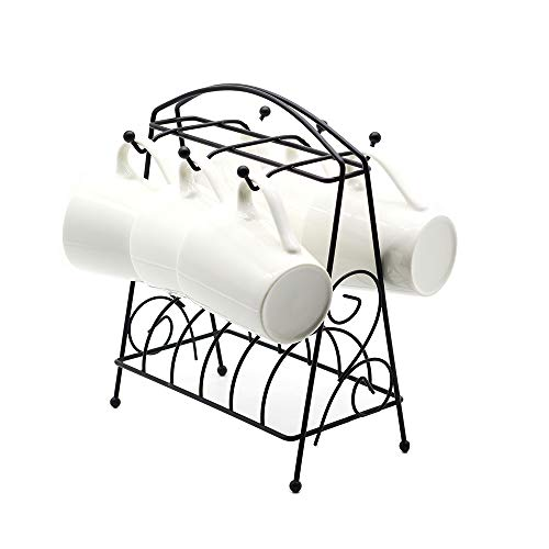 Jesauge 6 Hooks Mugs Tree Cup Rack Dishes Organizer by Jesauge