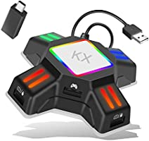 キーボード・マウス接続アダプター ゲームコンバーター ゲーミングコントローラー変換 アダプター コンバータ マウスコンバーター 操作簡単 コンパクト 接続タップ 転換アダプター Nintendo Switch/PS4/PS3/Xbox One対応…