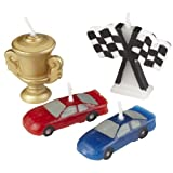 Wilton 2811-9135 4-Piece Race Car Molded Candles
