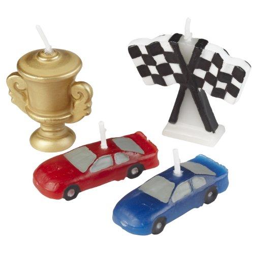Wilton 2811-9135 4-Piece Race Car Molded Candles
