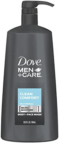 Dove Men Plus Care Body and Face Wash, Clean Comfort, 23.5 Ounce