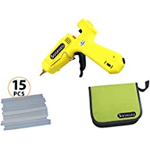 Hot Melt Glue Gun,by Sosaged,Heavy Duty Industrial High Temperature Melting Glue Gun Kit with 15pcs Glue Sticks Ideal for DIY Arts & Crafts, Sealing, Quick Repairs, Decorations & More.
