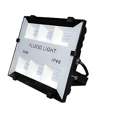 (LA) 50w Foco Proyector Led para Exterior Iluminación Decoración 6500k IP65 Negro (1)