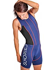 Sundried Womens Premium Padded Triathlon Tri Suit Compression Duathlon lopende het zwemmen cirkelen huid pak