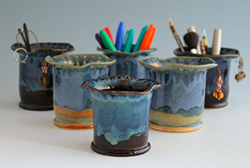earring-organizer-cosmetic-brush-or-eyeglasses-holder-green-blue-tan-and-black-blue-in-stoneware-jew