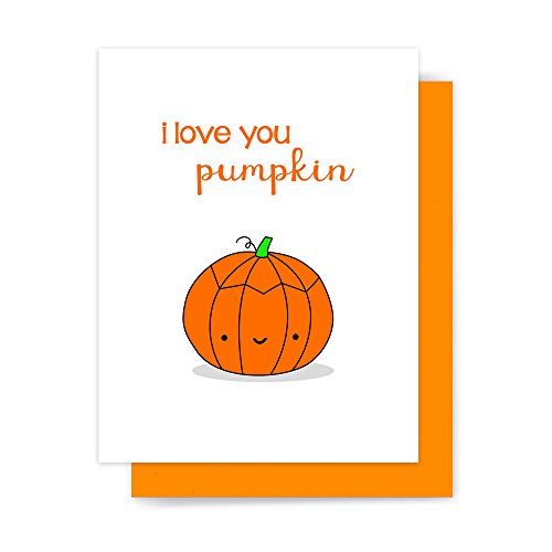 Happy Halloween Card I Love You Pumpkin Funny Handmade Greeting