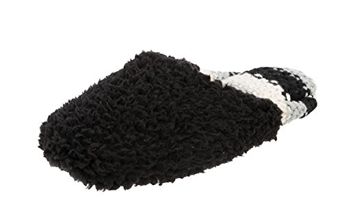 Scuff Heel Dearfoams Knit Black Pile with Sweater w r5rwWR4qXf