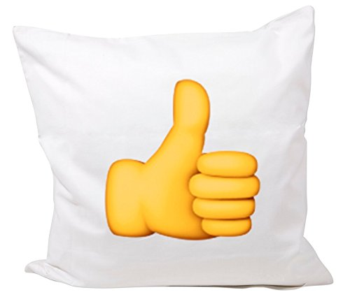 "Cushion Cover 40x40 ""Sign for thumbs up"" Pillowcase- 40 x 40"