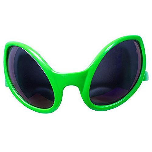 Xmnds Children's Green Alien Eyes Smoke Black Lens - With Sunglasses Cobain Kurt