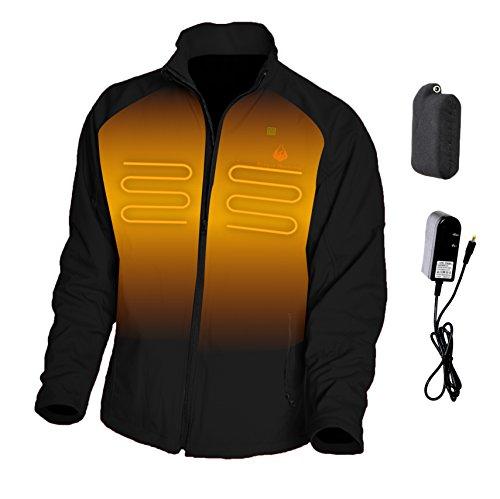 Dragon Heatwear Mens Wyvern 3-Zone Heated Jacket (XL, Onyx) - Onyx Shell Jacket