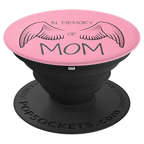 - Breast Cancer Awareness In Memory Of Mom Pink Angel Wings - PopSockets Grip and Stand for Phones and Tablets