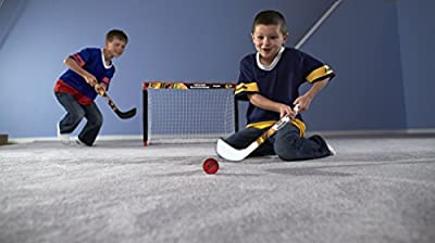 Franklin Sports NHL Team Licensed Knee Hockey Set - Includes 2 Mini Hockey Sticks and One Foam Mini Hockey Ball