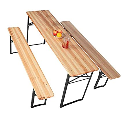 Amazon Com Exxtra Store Patio Wooden Folding Picnic Table Beer