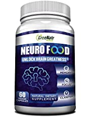 Brain Supplement to Enhance Memory, Energy, Focus and Clarity For Men& Women. Best Natural Alternative of Nootropics with Vitamin B12, Folic Acid, Ginkgo Biloba ,vitamin B6 / B1 & Choline. Veggie Caps