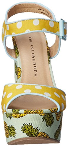Yellow Chinese White Laundry Sandal Jollypop Women Wedge 1XrwS4Xqg