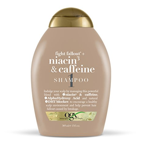 Organix Fight Fallout Plus Shampoo, Niacin & Caffeine, 13 Fluid Ounce