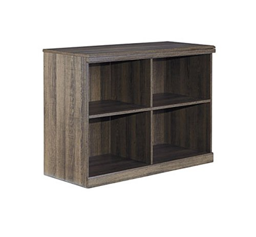 Ashley Furniture Signature Design - Juararo Bookcase - Vintage Style Shelf - 4 Cubbies - 28 in - Dark Brown by Signature Design by Ashley