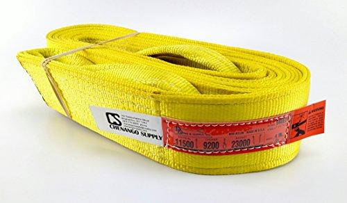 DD Sling (USA Made). Many Sizes in Listing! 4'' x 20', 2 Ply Twisted Eye, Nylon Lifting Slings, Eye & Eye, Heavy Duty (900 webbing), 11,500 lbs Vertical, 9,200 Choker, 23,000 Basket Capacity (4'' x 20') by DD Sling & Supply, Inc.