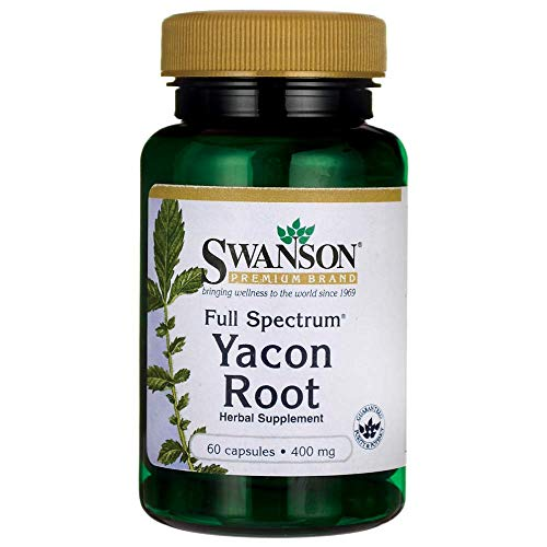Swanson Full Spectrum Yacon Root 400 Milligrams 60 Capsules