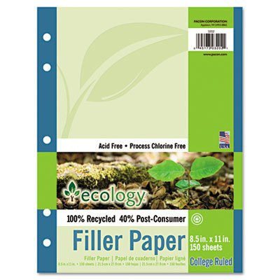 Ecology Filler Paper, 16-Lb., 150 Sheets/Pack [Set of 3]