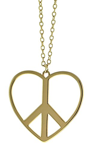 Gold Peace Sign Necklace - 2