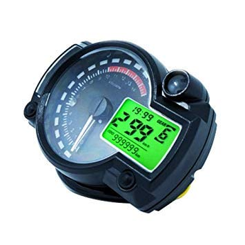 Uniqus Universal Multi-Functional Motorcycle redating Speed Mileage Gear Water Temperature Clock Meter Gauage