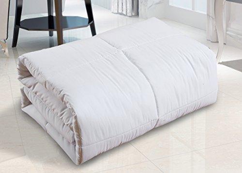 AC Pacific Comfort-Q Bedroom Collection Queen Sized Medium Warmth Down Alternative Bed Comforter Duvet Insert, Queen, White