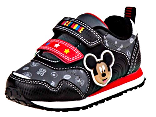 Josmo Kids Disney Mickey Mouse Boys Sneakers Black/Red Toddler/Little Kid, Size 8 Disney Mickey Mouse Shoe