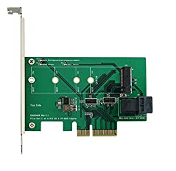 PCI-e 4-Lane to M.2 (PCI-e I/F) & Mini SAS HD (SFF-8643) Adapter